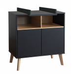 Pericles Style Black Chest with extension