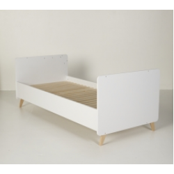 Quax Loft White Transformable Bed (60x120cm to 90x200cm)