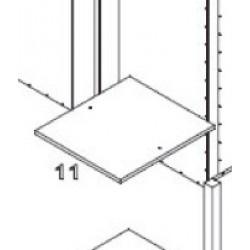 Stripes 3D - shelf 45x50
