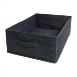 Quax Basket for Changing table with bath Smart - Matelasse Black - 37x30x16H cm