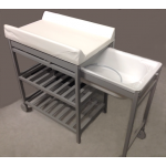 Quax Changing table with bath Grey -fixed changing cushion-