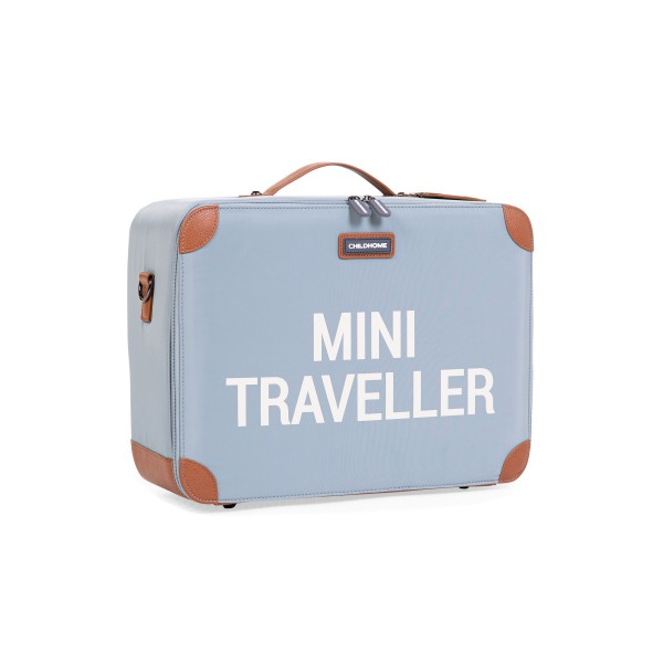 Childhome Mini Traveller Kids Suitcase - Blue Grey