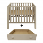 Quax playpen marie-lucca grisato with drawer
