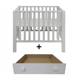 Quax playpen marie-lucca Nebbia with drawer