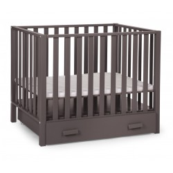 Childwood Playpen PA94 Warm Grey with wheels and drawer