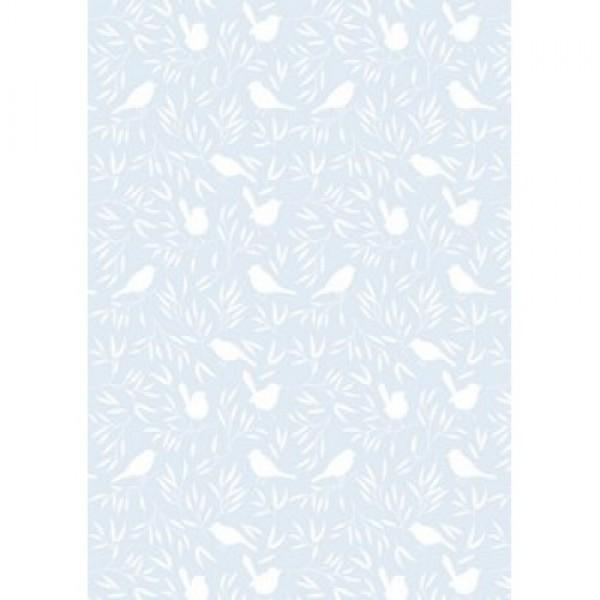 Les Rêves d'Anaïs Blue Birds sheet & pillowcase 110x100 cm
