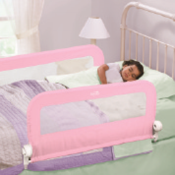 Summer double safety rail with mesh pink