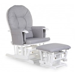Childwood gliding chair canvas grey + footrest