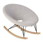 Quax rocking adult chair de luxe - sand grey