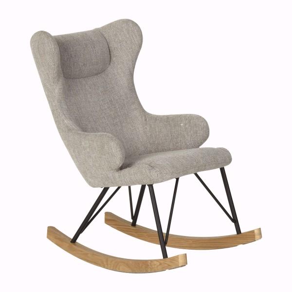 Quax Rocking Kids Chair De Luxe - Sand Grey