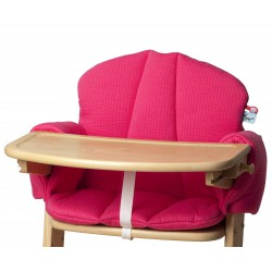 Pericles High Chair Cushion Fuchsia
