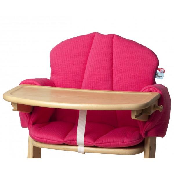 Pericles High Chair Cushion Fuchsia